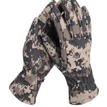 Outdoor Shark Skin Soft Shell Gloves guantes Camo Tactical malzemeler Full Finger Army Sport Riding hiking gloves freesoldier