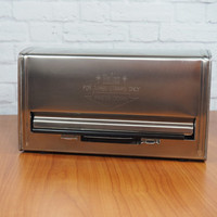 Vintage Stainless Steel Drinking Straw Dispenser by Halco / Made in Japan / 1950's Diner Retro Kitchen