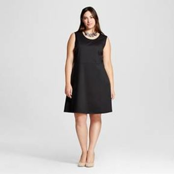 Women's Plus Size Ponte Fit and Flare Dress - Merona ™