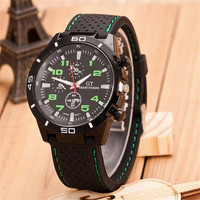 Mnes Casual Sports Watches Silicone Strap Watch + Beautiful Gift Box - 374
