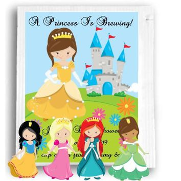 10 Princess Theme Baby Shower Tea Favors