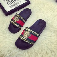 DCC3W WOMEN LEATHER SLIPPERS FLIP FLOPS SANDALS LOAFERS
