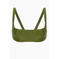 Revel V Back Bikini Top - Eden Green