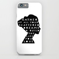 silhouette - scattered dreams iPhone & iPod Case by Her Art