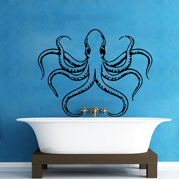 Wall Decals Octopus Decal Vinyl Sticker Bathroom Window Nursery Children Bedroom Hall Home Decor Dorm Interior Art Murals MN516