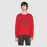 Men's GUCCI Print Top Sweater Pullover
