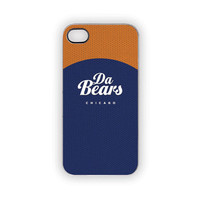Chicago Bears Football NFL iPhone Case Da Bears Fall Autumn Tailgating Sports Fan Orange Blue Typography iPhone 5S 5 4S 4