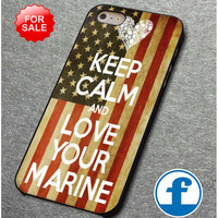 keep calm and love marine for iphone, ipod, samsung galaxy, HTC and Nexus phone case