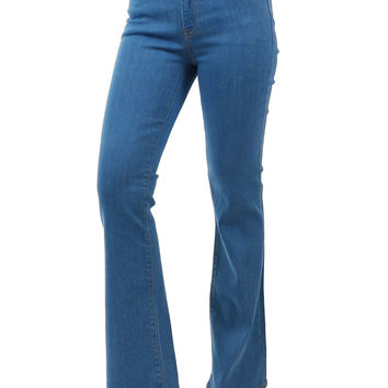 High Rise Comfy Stretch Flare Denim