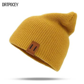 Winter Hats for Woman HipHop Knitted Hat Women's Warm Slouchy Cap Crochet Ski Beanie Hat Female Soft Baggy Skullies Beanies