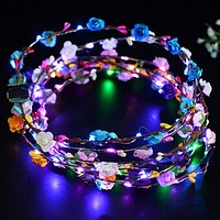 Flashing Flowers LED Crown Headband