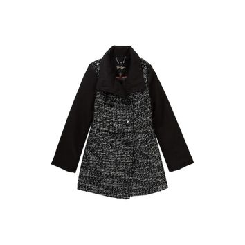 Jessica Simpson Big Girls Tweed Church Coat