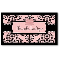 311 Icing on the Cake Tier - Sweet Icing Pink Business Card Template from Zazzle.com