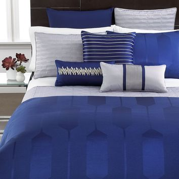 Hotel Collection Bedding, Links Cobalt King Duvet Cover - Bedding Collections - Bed & Bath - Macy's