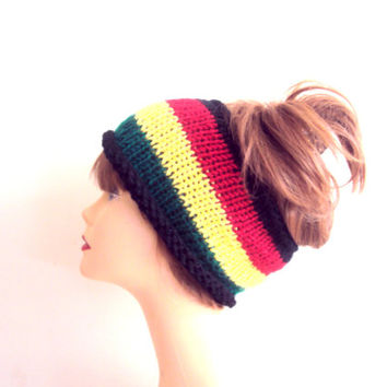 Knit Rasta Head Band Cowl Rasta Head Wrap Dreadlock Yoga Fitness Workout Scarf Earwarmer Women Men Hair Accessories Gift Ideas