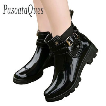 Rubber Shoes Women Rain Boots For Girls Ladies Walking Waterproof Women Boots Winter Summer Spring Ankle Martins Woman Rainboots
