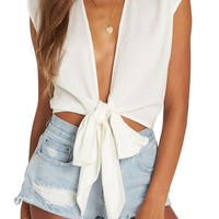 Billabong Flyin High Tie Waist Top | Nordstrom