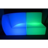 LED Sofa Couch 2 Piece Set Light up Furniture
