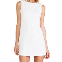 Naven Sequin Twiggy Dress in White