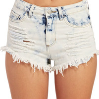Washed Out High-Waisted Shorts | Wet Seal