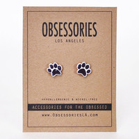 Dog Paw Earrings Dog Earrings Pet Animal Lover Activist Mans Best Friend Stud Earrings Dog Jewelry Dog Accessories Dog Gift Idea For Her