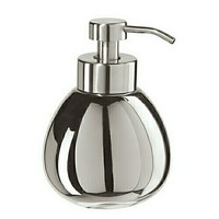 Titanium Finish Ceramic Teardrop Soap Foamer Dispenser