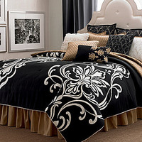 candice OLSON Grand Damask Black Bedding Collection | Dillards.com