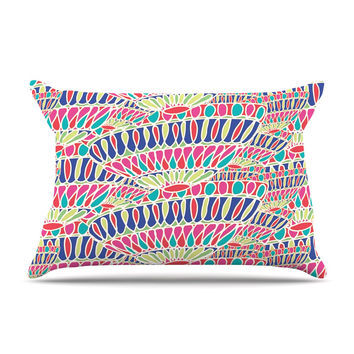 "Miranda Mol ""Abundance"" Magenta Multicolor Pillow Case"
