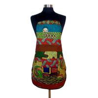 Apron with Pockets - African Wax Print - Ghana