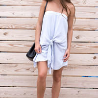 Simply Sweet Off The Shoulder Knot Dress