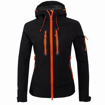 2016 Outdoor Sports Brand Women's Tech Fleece Clothing Waterproof Softshell Jacket Camping Hiking Coats Ski Windbreaker UB094
