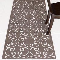 laser cut rug - truffle  : brocade home