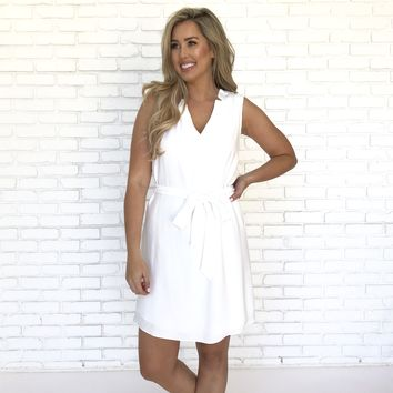 All Work Shift Dress In Ivory