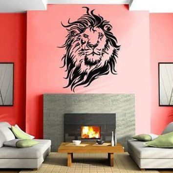 Lion Head Flames King Of The Jungle Africa Safari Wall Art Sticker Decal M085