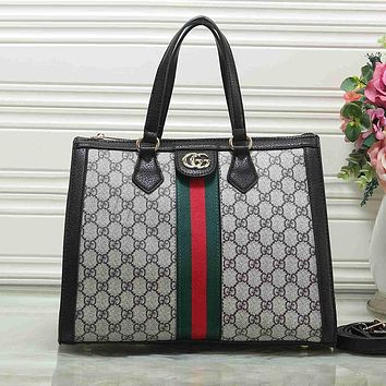 GUCCI Women Fashion Leather Handbag Tote Crossbody Shoulder Bag Satchel