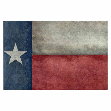 "Bruce Stanfield ""Texas State Flag"" Vintage Digital Decorative Door Mat"