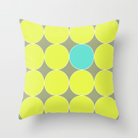 dot. Throw Pillow by Bethany Mallick