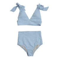 Self-Tie Strap Single-Tone Bikini