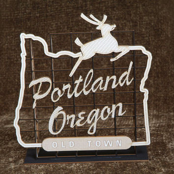 3D Model Kit - Miniature Oregon Historic Landmark Sign - Laser Cut - Architectural