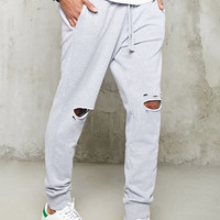 Distressed Heathered Joggers