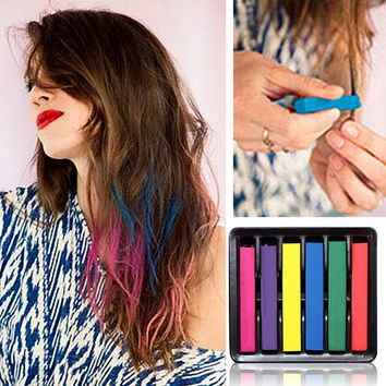 Temporary Super Hair Dye Colorful Chalk Hair Color Alcohol-Free chalks