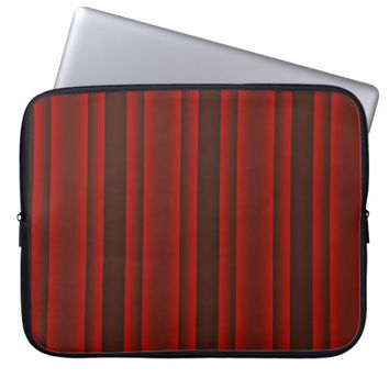 Red and Black Stripes Computer Sleeve