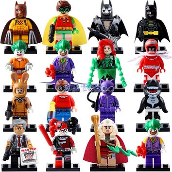 DR.TONG 2017 New Batman Movie Super Heroes Robin Catwoman Batman Avengers Harley Quinn Building Blocks Child Toys