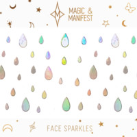 Magic and Manifest Face Stickers in Holographic Rain Drops
