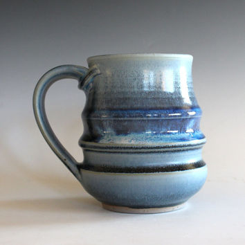 Coffee Mug Pottery, 17 oz, unique coffee mug, handmade ceramic cup, handthrown mug, stoneware mug, pottery mug, ceramics and pottery