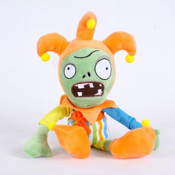 Newest Plants vs Zombies Plush Toy 30cm PVZ Clown Zombies Cosplay Plush Doll for Kids Children Gift