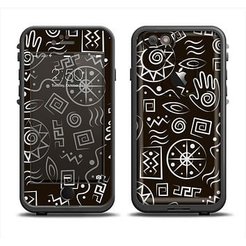 The Black and White Cave Symbols Apple iPhone 6 LifeProof Fre Case Skin Set