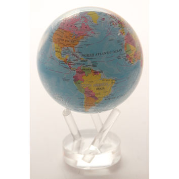 Mova Rotating Blue Ocean Political 4.5-in. Diam. Desk Globe