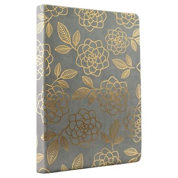 "Blank Journal Eccolo Ltd 10"" x 8"" Bayou Teal Flat Grey"