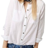 Topshop 'Billie' Chambray Shirt | Nordstrom